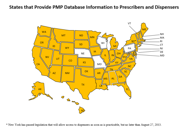 Pennsylvania is one of the only states in the US where prescribers and dispensers cannot access PDMP data. Source: NAMSDL