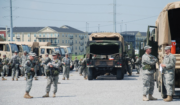 Louisiana National Guard at full operational status. Credit: Chuck Simmins
